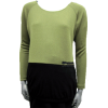 Lime Raglan Sweater with Black Jersey Elasticized Border