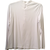 Adjustable White Rayon Knit M-Shirt Shell