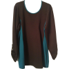 Black Ponte Pullover with Turquoise Details