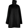 Black Wool Maternity Three-Quarter Coat
